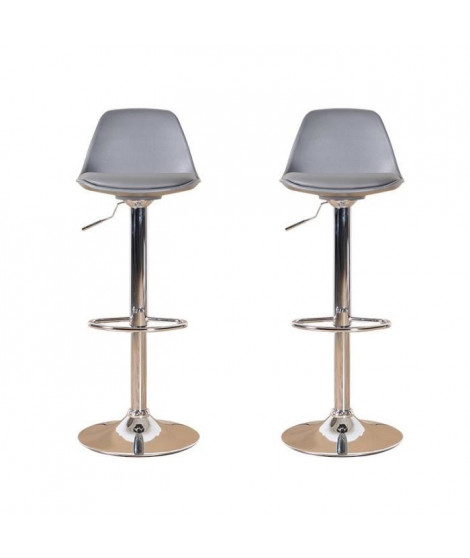 NEO Lot de 2 tabourets de bar