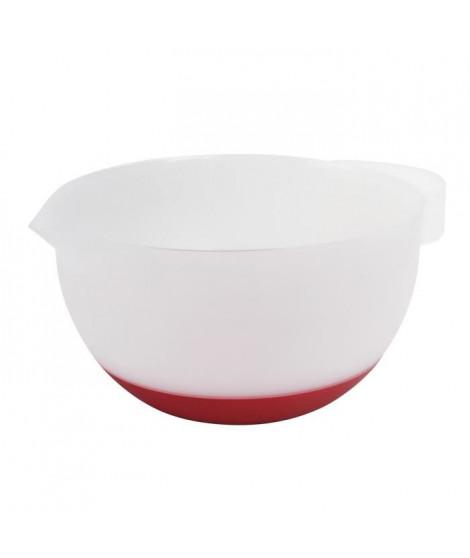 GIMEL Bol mélangeur 19,5 cm rouge et blanc