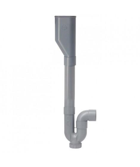 SOMATHERM Siphon traditionnel - Double ABS horizontale avec Entonnoir - Ø 40