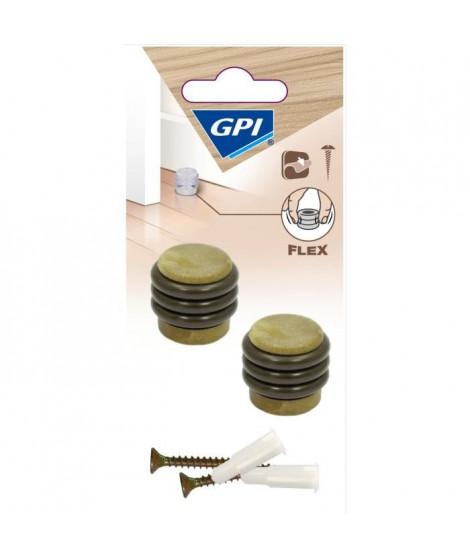 GPI Butée de porte Sol anneaux élastique - Imitation bois