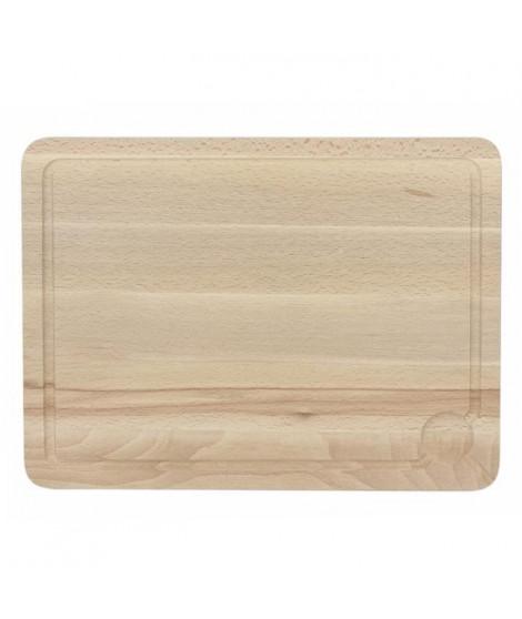 THEKITCHENETTE Planche a découper avec rigole 5040379 43x32cm beige
