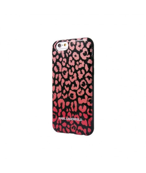 KARL LAGERFELD COQUE TPU KAMOUFLAGE ROSE POUR APPLE IPHONE 6+/6S+