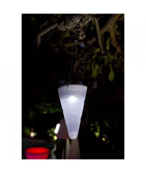 LUMISKY Balise suspendue lumineuse solaire LED -10x10x34cm - Blanc froid