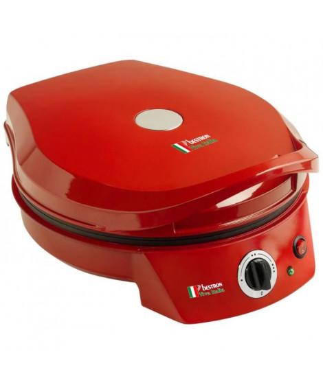 BESTRON APZ400 Four a pizza - Diametre : 27 cm - Rouge