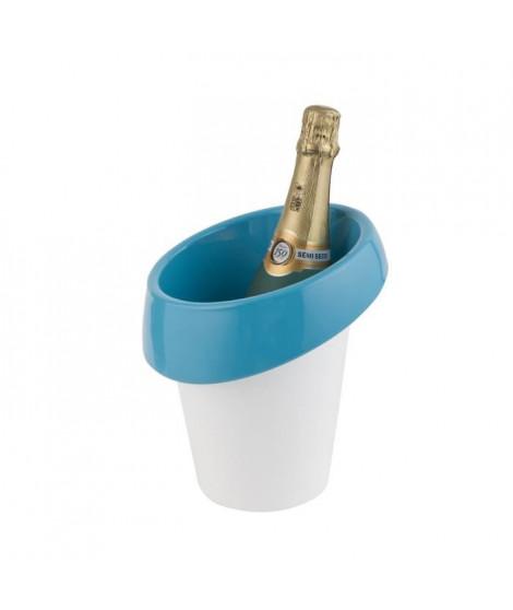 Seau a glace Icewave - ABS laqué - Blanc / Bleu - Pour 1 bouteille