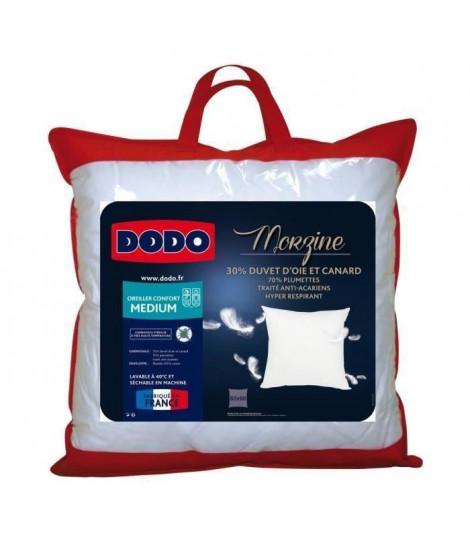 DODO Oreiller percale 100% coton Morzine 65x65 cm blanc