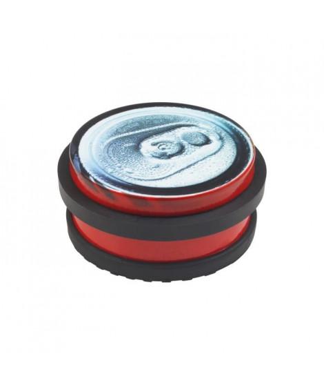 METAFRANC butoir de porte - Acier décor canette - 102 x 45 mm