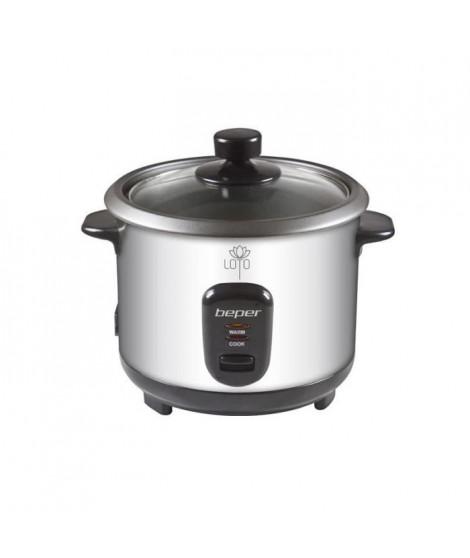 BEPER 90550 Cuiseur a riz et a vapeur - Argent / Noir