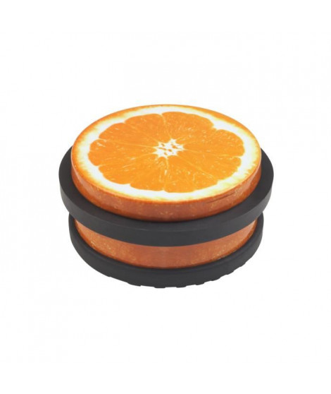 METAFRANC butoir de porte - Acier couleur décor orange - 102 x 45 mm