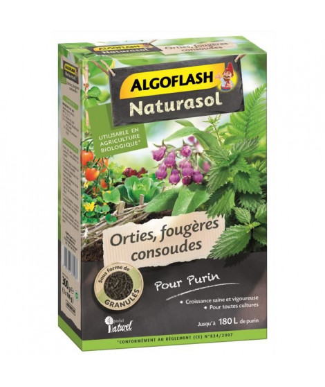 ALGOFLASH NATURASOL Orties, fougeres, consoudes pour purin - 300 g