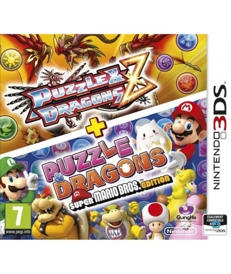 Puzzle & Dragon Z + Puzzle Dragons Super Mario Bros Edition Jeu 3DS