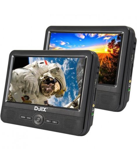 D-JIX PVS 906-70DP Double Lecteur DVD portable 9''+ supports appui-tete