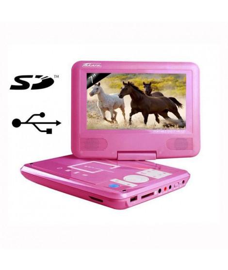 Takara VR132P Lecteur DVD Portable Rose