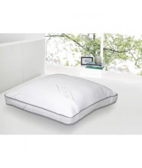 DORMIPUR Oreiller mousse a mémoire de forme Carat Luxe confort soft 60x60 cm blanc