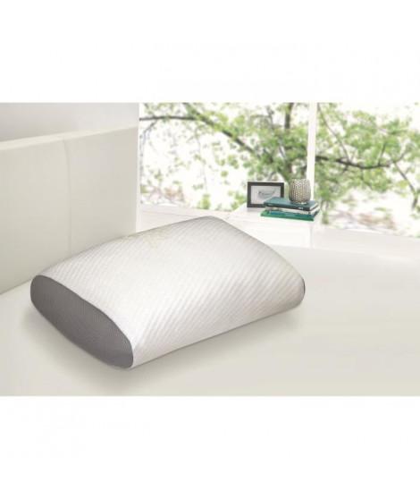 DORMIPUR Oreiller mousse a mémoire de forme Juno confort soft 40x60 cm blanc