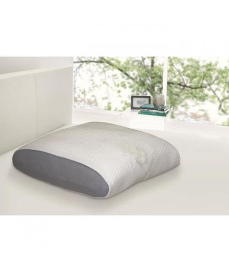 DORMIPUR Oreiller mousse a mémoire de forme Juno confort soft 60x60 cm blanc