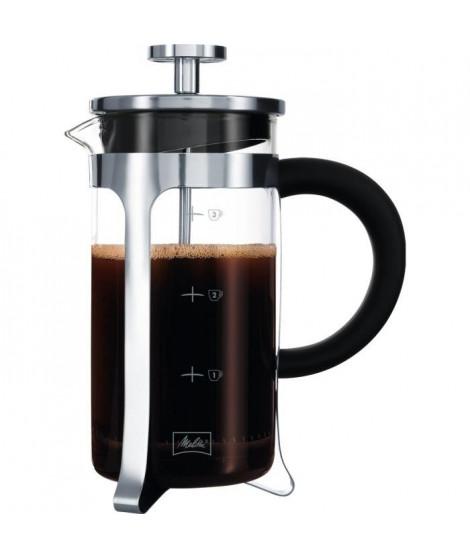 MELITTA Cafetiere a piston Micro-Ondable Premium en verre et inox 3 tasses