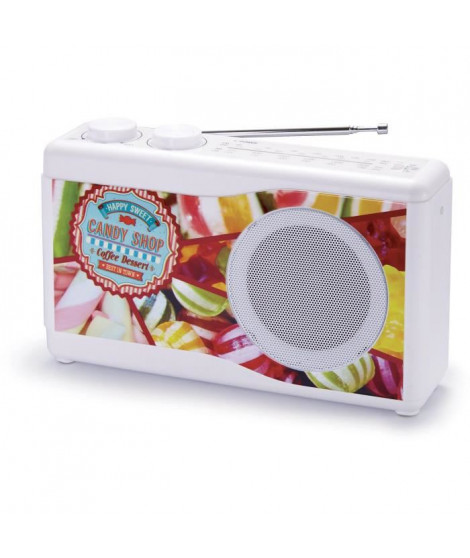 BIGBEN TR23CANDY Radio portable - Tuner analogique - Candy Shop