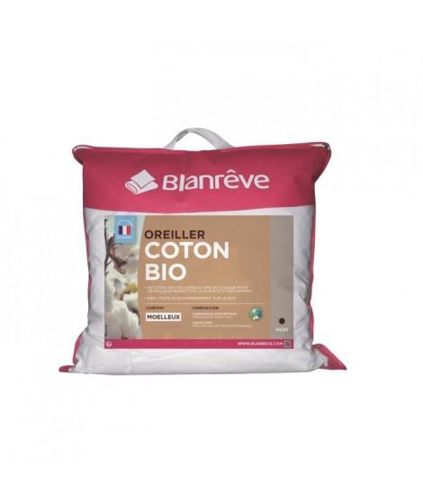 BLANREVE Oreiller 100% coton BIO 60x60