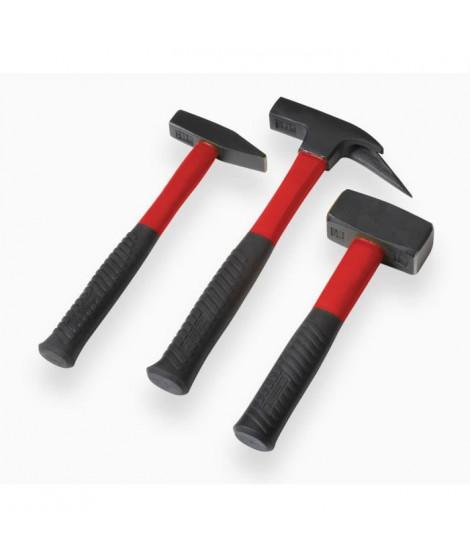 MEISTER Jeu 3 marteaux - manche fibre
