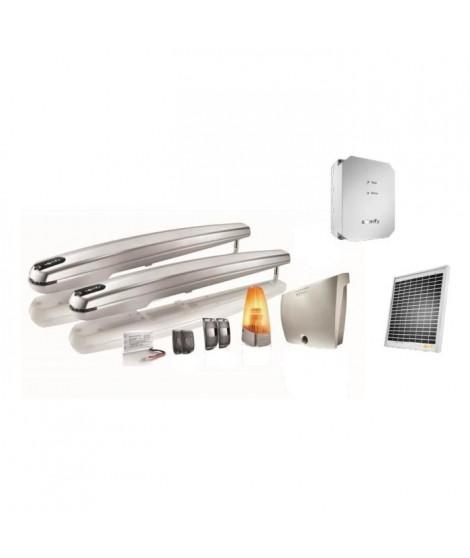 SOMFY Kit de motorisation de portail a vérin Exavia 500 pour portail battant 5mx500kg maxi avec son kit d'alimentation solaire