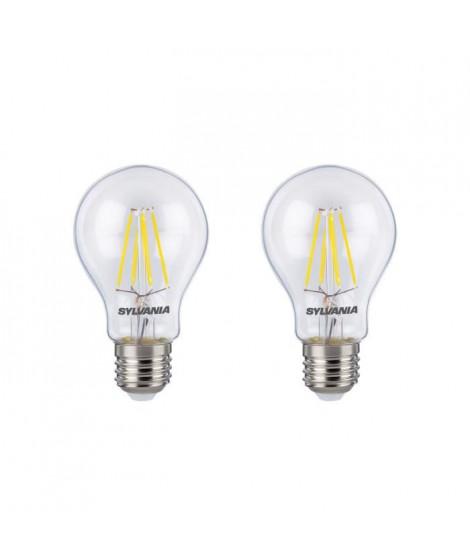 SYLVANIA Lot de 2 ampoules LED RETRO Filament A60 E27 50W