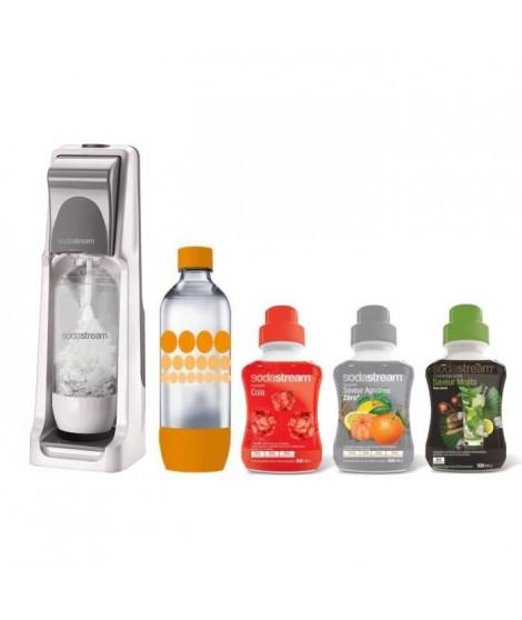 SODASTREAM MÉGA PACK Machine a soda Cool + 3 concentrés + 1 bouteille