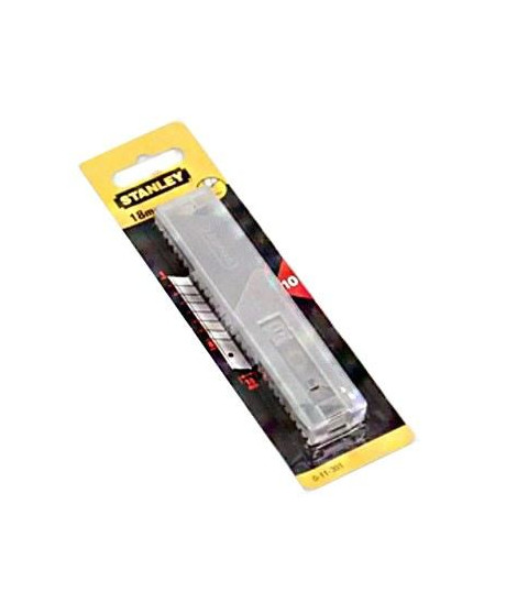 STANLEY Jeu 10 Lames de cutters 18mm