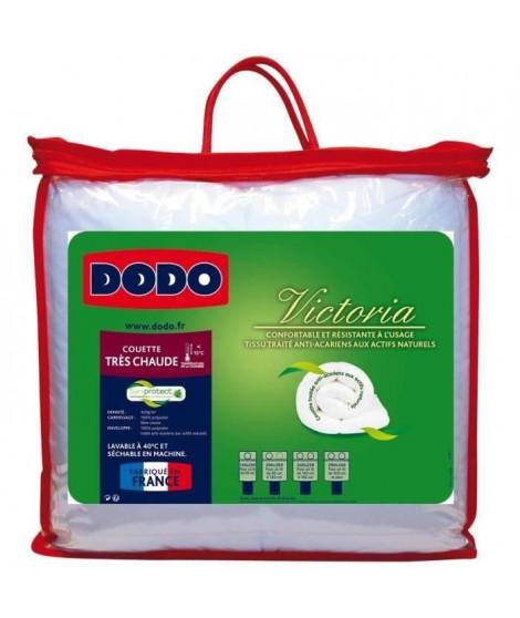 DODO Couette anti acariens Victoria 200x200 cm blanc