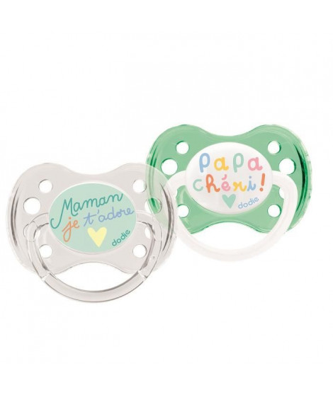 DODIE Sucette 0-6 Mois Duo Papa Maman Silicone