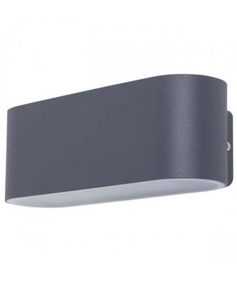 SMARTWARES Applique extérieure Led ovale GWI-002-HS - Gris