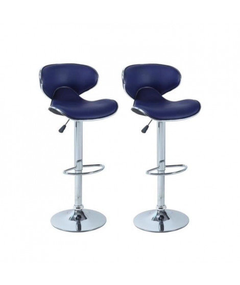 YORK Lot de 2 tabourets de bar BLEU