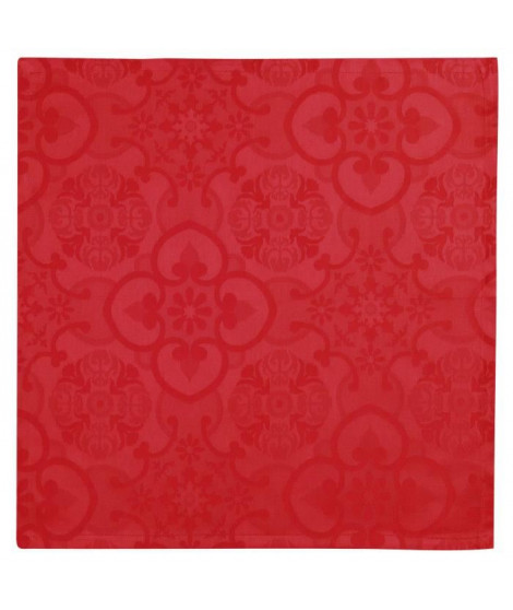 VENT DU SUD Lot 6 serviettes de table jacquard FARO - 47x47cm - Rubis