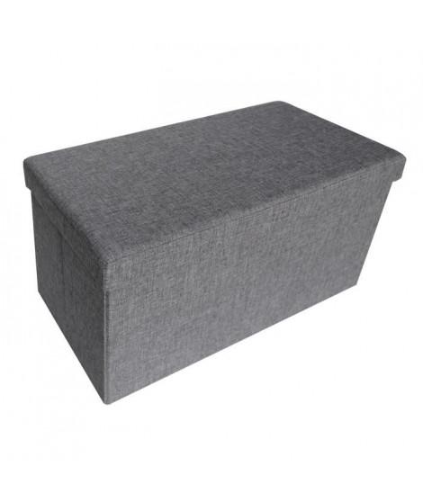 COSY Banc coffre de rangement pliable 76x38x38 cm gris chiné