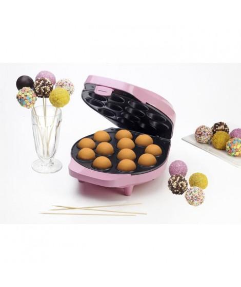 BESTRON DCPM12 Appareil a cupcakes - Jusqu'a 12 en meme temps - Rose Pastel