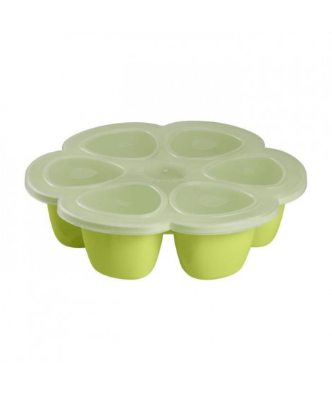 Béaba Multiportions silicone 6 x 150 ml neon
