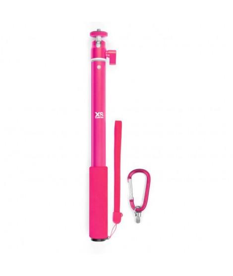 XSories - BIG U-SHOT - Perche télescopique 29 a 94 cm pour GoPro, appareil photo ou camera, en aluminium inoxydable, rose