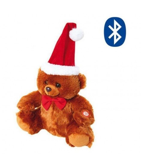 Peluche automate bluetooth 24 cm marron