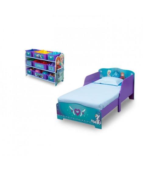LA REINE DES NEIGES Lit + meuble de rangement