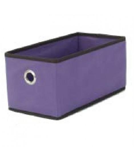 BAGGY Boîte de rangement renfort carton 43x15 cm violet