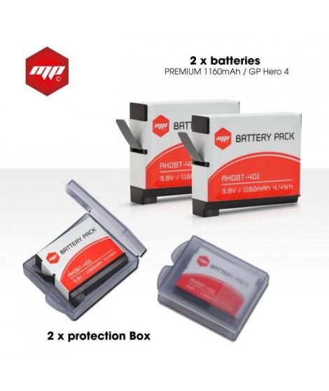 MP EXTRA  MP-PACK-DOUBLE-BATGP4  Pack de 2 batteries pour GoPro hero 4