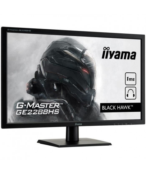 "iiYama Ecran Gamer G-Master Black Hawk GE2288HS-B1 22"" FULL HD 1920 x 1080 Dalle TN"