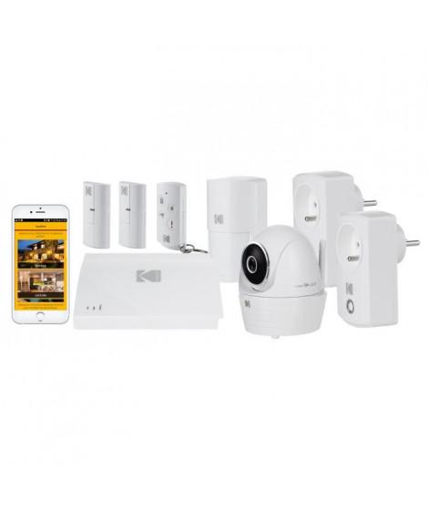 KODAK Systeme d'alarme maison sans fil avec caméra de surveillance Full HD Security +