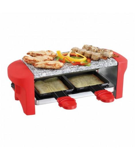 DOMOCLIP DOC156 Appareil a raclette ? Pour 2 personnes ? 350W - Rouge/Noir