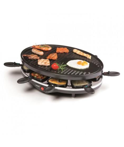 DOMO DO9038G Raclette-gril ? Pour 8 personnes ? 1200W - Noir