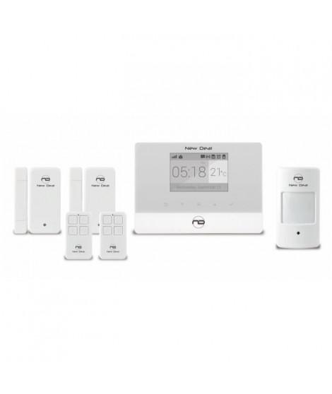 NEW DEAL Alarme maison sans fil connectée GSM avec accessoires protect live