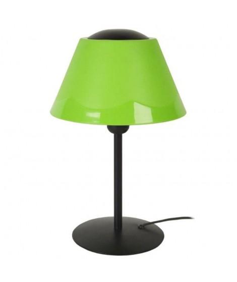Lampe tube et abat-jour Polycone 35 cm 20 W équivalent a 75 W noir et vert