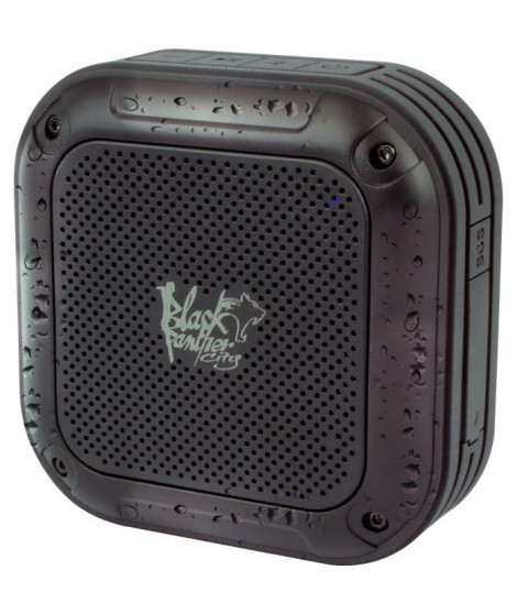BLACK PANTHER CITY Enceinte nomade Bluetooth sport waterproof Noire