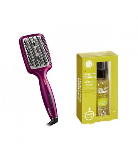Pack : BABYLISS Brosse lissante HSB100EB + ENERGIE FRUIT Sérum cheveux frisés - 50ml