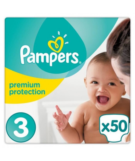 PAMPERS New Baby Taille 3 Midi 4 a 9kg 50 couches